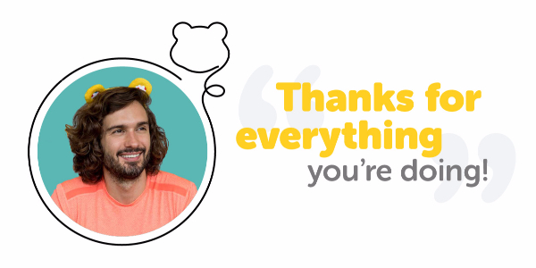 Joe Wicks, thanks for everything you're doing!